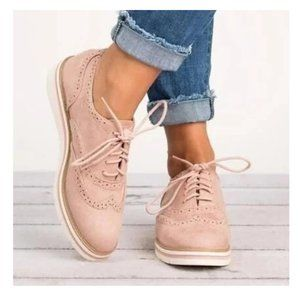 Carlo Rossetti Light Pink Oxfords Shoes